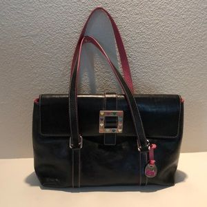 All Leather Dooney & Bourke Tote Bag w/ coin purse